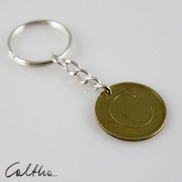 Żeton C - breloczek moneta