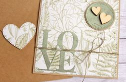 kartka ślubna, miłosna. LOVE