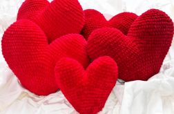 Poduszka Serce Szydełkowa Ozdoba