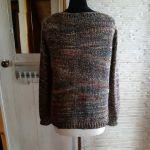 kolorowy luźny sweter bawełna i wełna s/m - tył