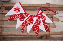 Idą Święta!!! Girlanda snieżynki scandi