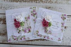 Kwiatowa kartka ślubna z pudełkiem A9