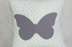 Poszewka - szary motyl