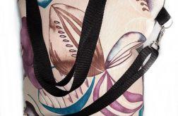 Torebka damska torba shopper wzór liść