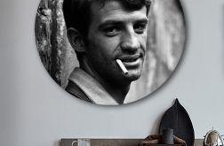Jean-Paul Belmondo - obraz w okrągłej ramię