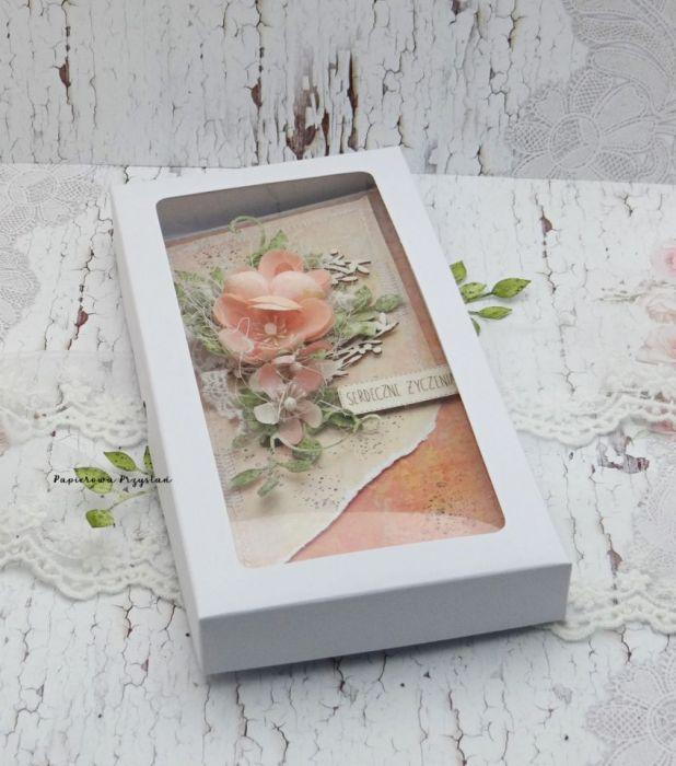 Serdeczne Życzenia- kartka w pudełku 3 - ślubna kartka