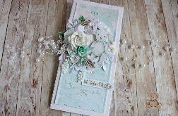 Kartka na chrzest DL Baby Miracle Mint GOTOWA