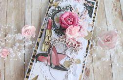 Kartka urodzinowa kobieca Glam&Rock 1 GOTOWA