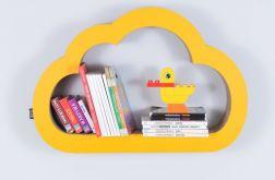 Półka na książki CHMURKA | żółty
