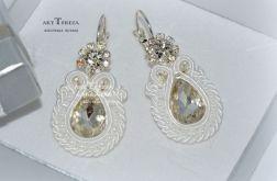 biżuteria ślubna,kolczyki sutasz