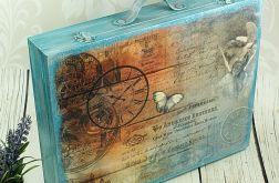 walizka wspomnień- vintage w turkusach (dr11)