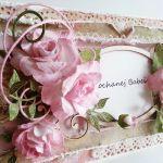 Kartka na ślub z różami