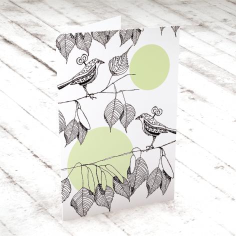 TWO LITTLE BIRDS... KARTECZKA