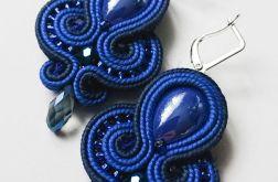 Kobaltowo-granatowe kolczyki z ceramiką