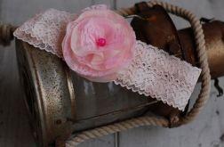 Retro opaska niemowlęca - Beż & róż
