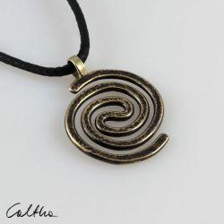 Spiralny - mosiężny wisiorek 210305-04