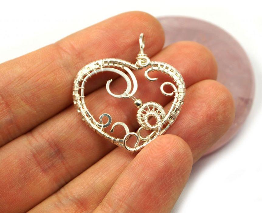 Serce, Srebrny wisiorek w kształcie serca