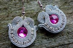 Kolczyki sutasz Shine silver and pink