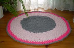 Dywan ręcznie dziergany okrągły 115 cm