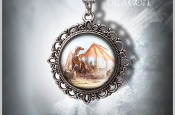 Medalion Smok - Dragon - zdobiony