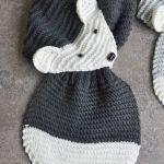 Szary lisek -szalik