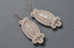 Kolczyki białe z masą perłową