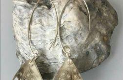 Srebrne kolczyki z piórkiem