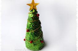 Zielona choinka cekinowa