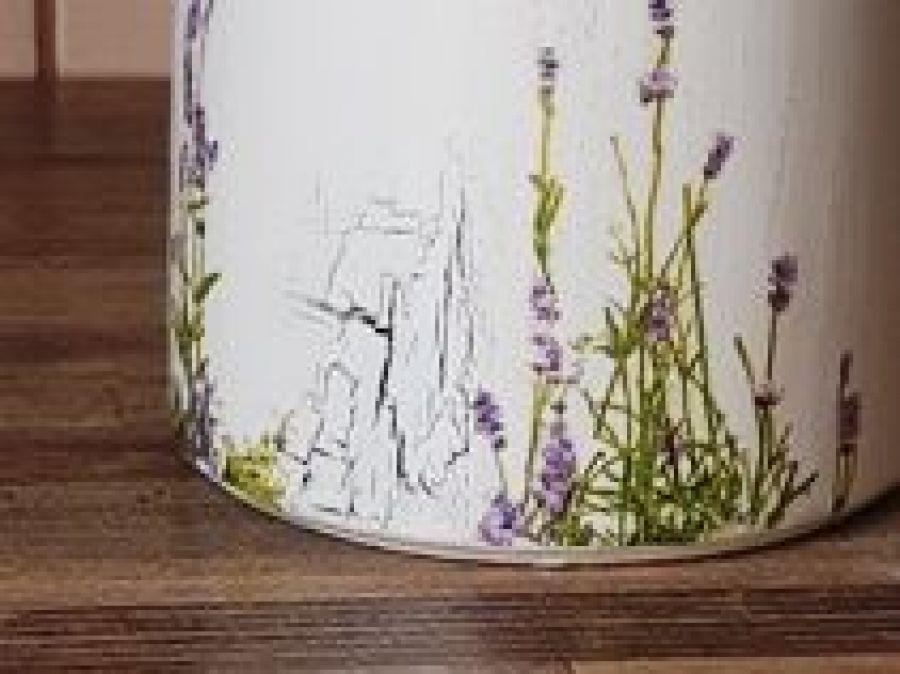 Pojemnik ceramicz 0,75l lawenda ecru