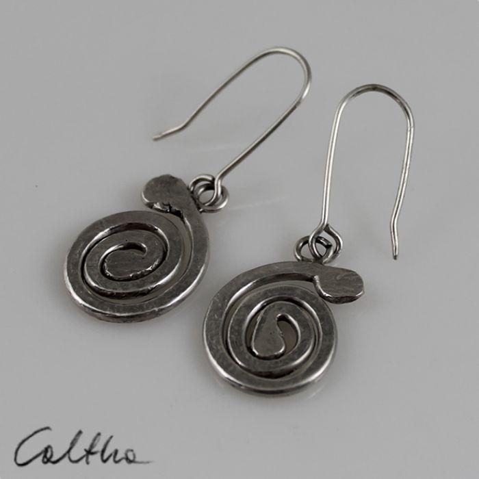 Ślimaki - srebrne kolczyki 150804-04 - Kolczyki srebrne