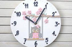 Zegar dla dziewczynki z sową