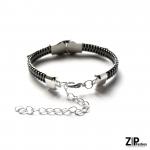 Designerska minimalistyczna bransoletka zamek
