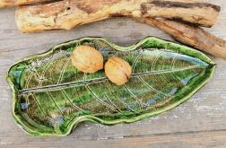 Ceramiczny liść, patera (c17)