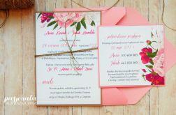 Zaproszenia jednokartkowe flowers # 18