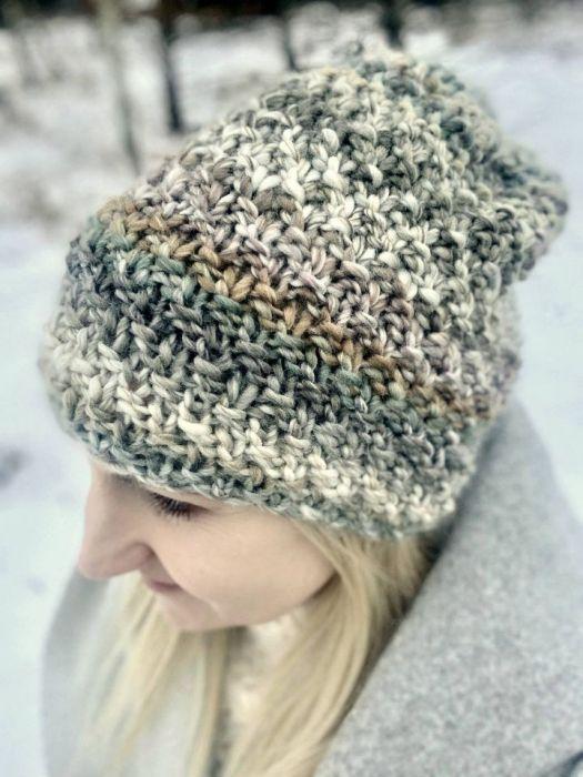 ciepła czapka szara