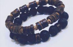 Zestaw biżuterii męskiej Lawa - model 1