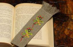 zakładka do książki z motywem roślinnym