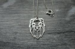 Naszyjnik LEW ORIGAMI, srebro 925