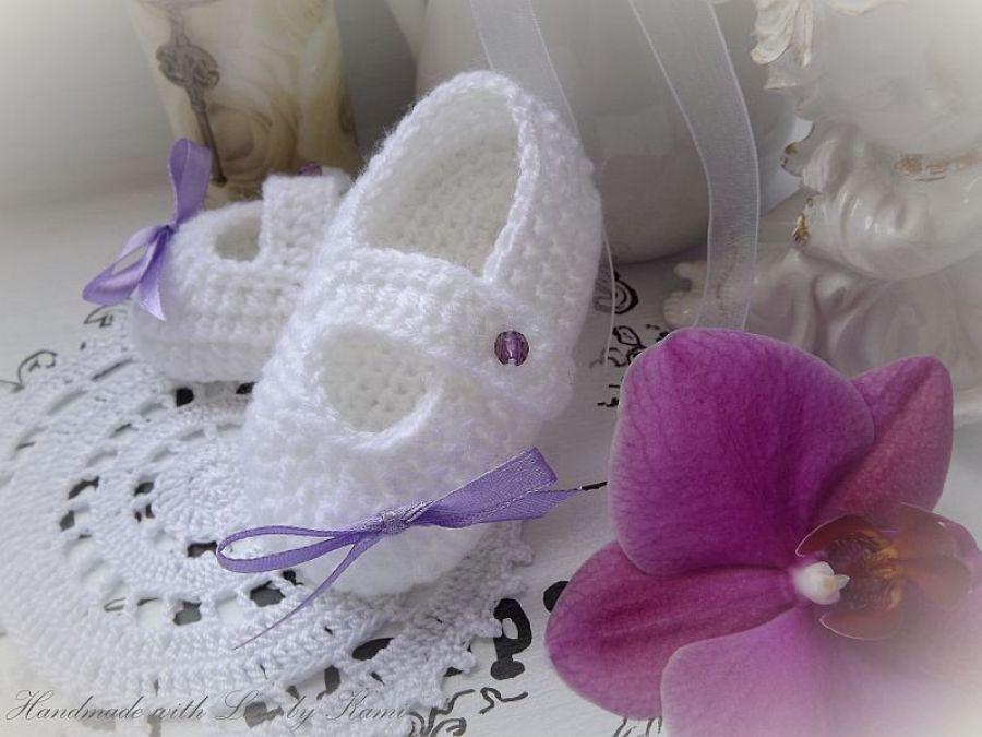 Buciki dla królewny, balerinki - baletki bawełna