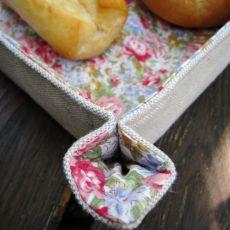 Lniano-bawełniany koszyk na pieczywo / owoce