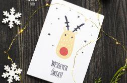 Kartka świąteczna oryginalna renifer