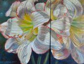 Białe Lilie bardzo dekoracyjny obraz.