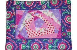 Kosmetyczka patchworkowa fioletowa
