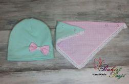 Komplet czapka i trójkąt dla dziewczynki