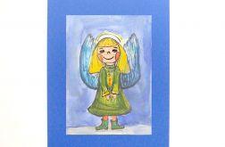 Aniołek  obrazek ręcznie malowany - 4