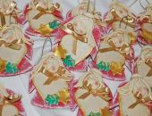 Świąteczne prezenciki - aniołki z dedykacją  - ozdoba, prezenty dla gości