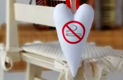 Serce dla niepalących - zawieszka