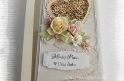Kartka ślubna z sercem w pudełku #3