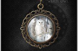 Medalion, naszyjnik - Sowa- romantyczny, antyczny brąz