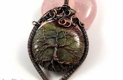 Drzewko Szczęścia wisior z heliotropem owal